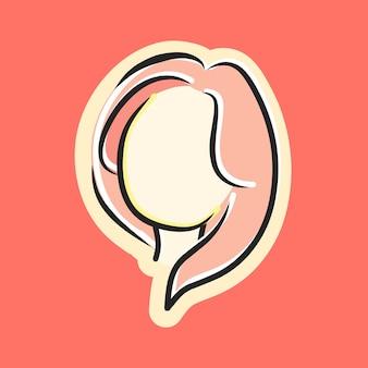 Leuk mooi meisjesgezicht met lang roze haar