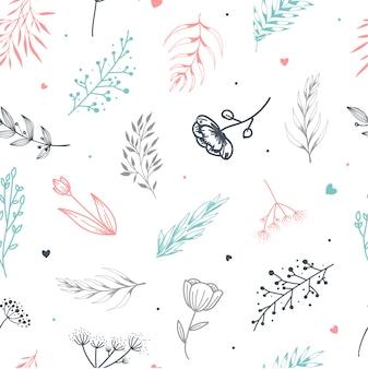 Leuk naadloos bloemenpatroon