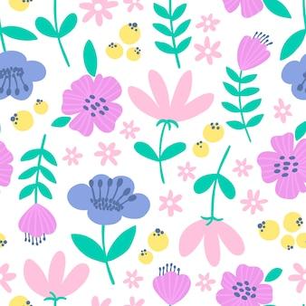 Leuk naadloos ditsy bloemenpatroon. fabric design met eenvoudige lentebloemen.