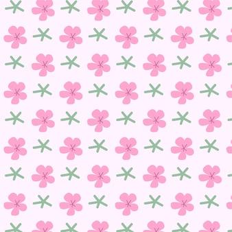 Leuk naadloos patroon in klein bloem vectorontwerp voor modestof kleine kleurrijke bloemen