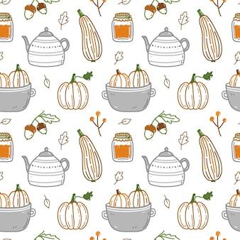 Leuk naadloos patroon met herfstelementen