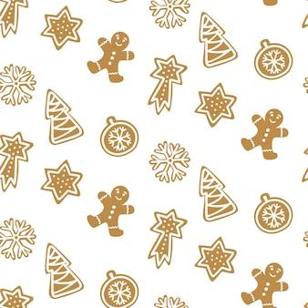 Leuk naadloos patroon met koekje.