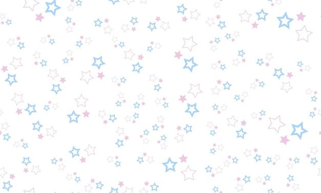 Leuk naadloos patroon met pastelkleurige sterren op witte achtergrond