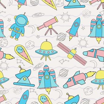 Leuk naadloos patroon met ruimte