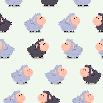 Leuk naadloos patroon met sheeps