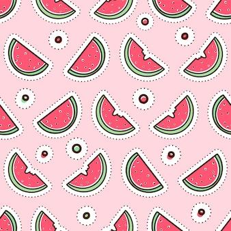 Leuk naadloos patroon met watermeloenen