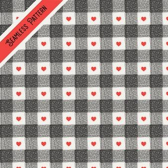 Leuk naadloos patroon premium vector