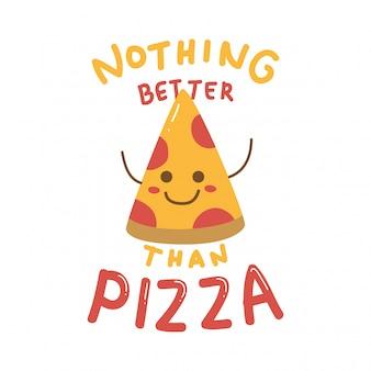 Leuk ontwerp met schattige pizza
