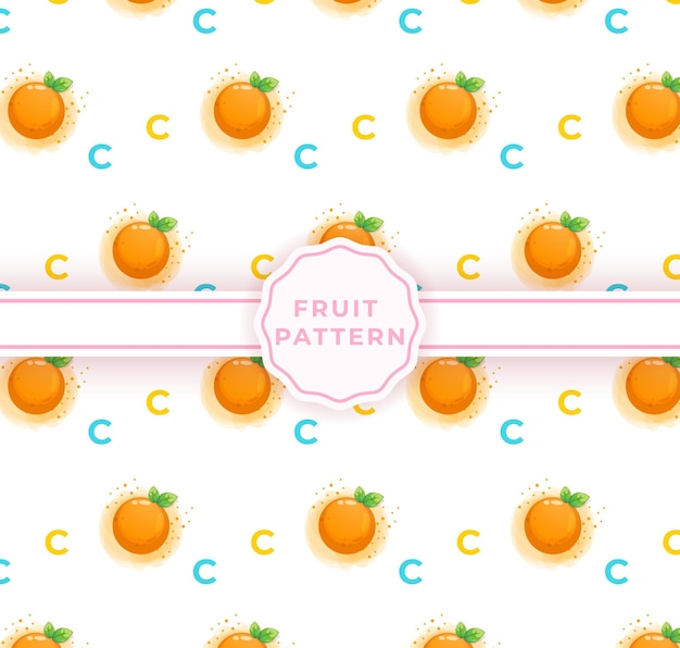 Leuk oranje naadloos patroon. leuk fruitpatroon