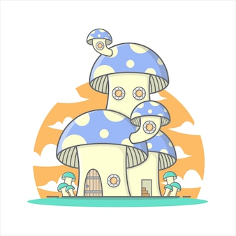 Leuk paddestoelhuis