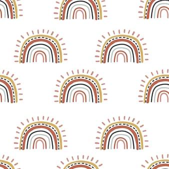 Leuk regenboog naadloos patroon. illustratie voor achtergrond, behang, frabic. bewerkbaar element