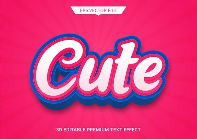 Leuk roze 3d bewerkbaar tekststijleffect