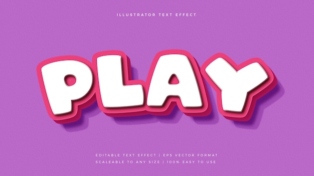Leuk roze speels tekststijl lettertype-effect