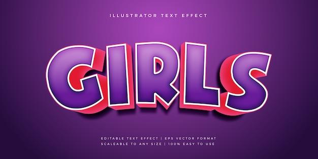Leuk speels levendig titeltekststijl lettertype-effect