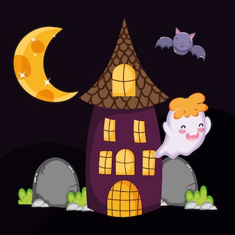 Leuk spookknuppelhuis halloween