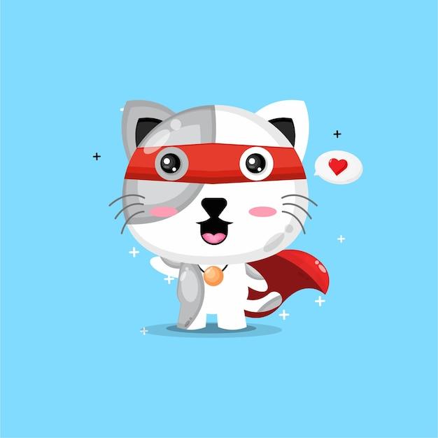 Leuk super kattenontwerp