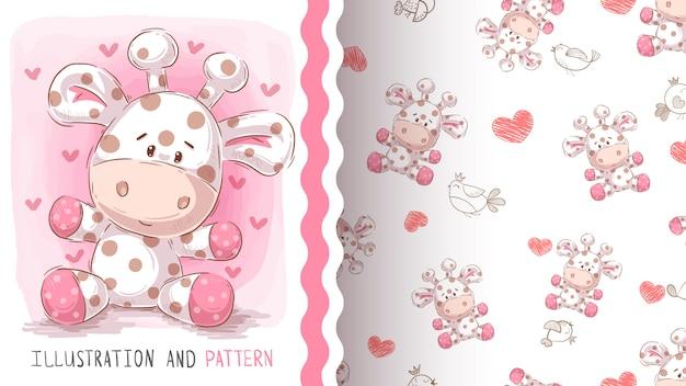 Leuk teddy naadloos patroon