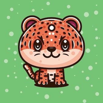 Leuk tijger karakter