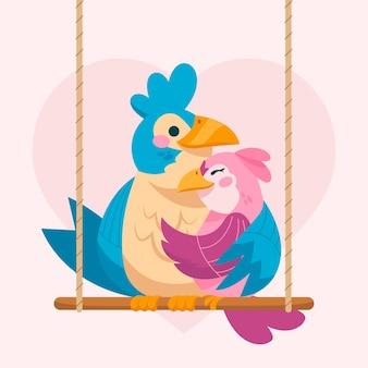 Leuk valentijnsdag dierlijk paar
