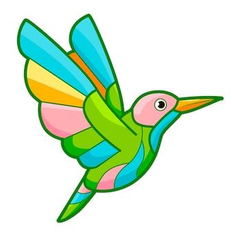 Leuk vogelbeeldverhaal. vogel clipart vectorillustratie