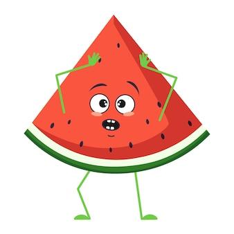 Leuk watermeloenkarakter