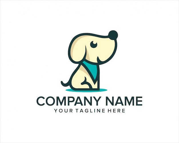 Leuk weinig honden dierlijk logo