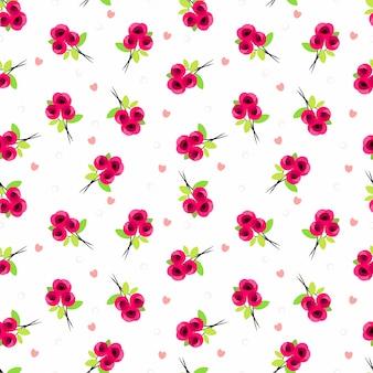 Leuk zoet roze naadloos patroon.