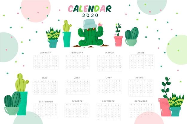 Leuke 2020 kalendersjabloon
