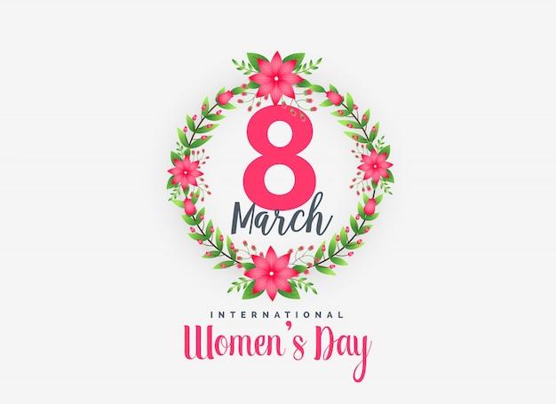 Leuke 8e maart gelukkige vrouwendag achtergrond