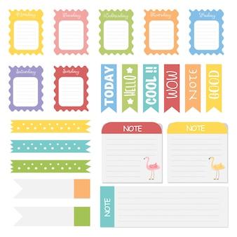 Leuke aantekeningen op papier. memo stickers