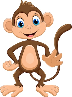Leuke aap cartoon
