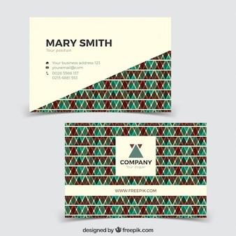 Leuke abstract adreskaartje in vintage stijl