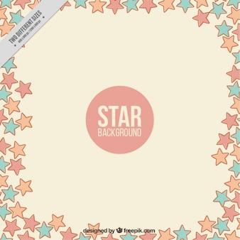Leuke achtergrond van sterren in pastel kleuren