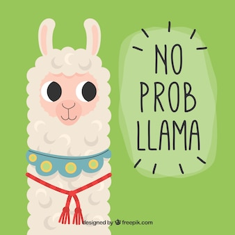 Leuke alpaca achtergrond met citaat