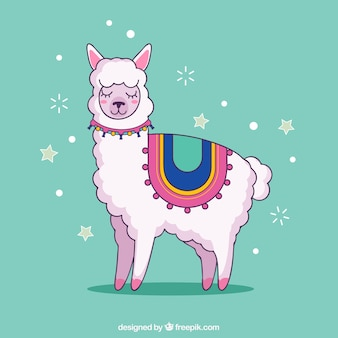 Leuke alpaca achtergrond