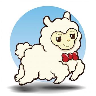 Leuke alpaca cartoon