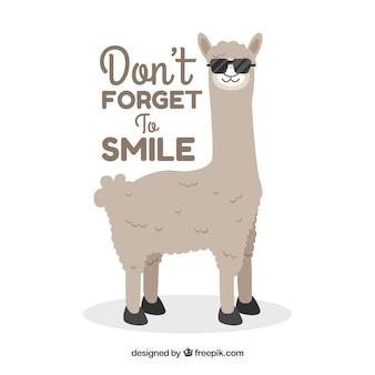 Leuke alpaca met uitdrukking