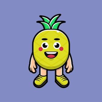 Leuke ananas cartoon afbeelding
