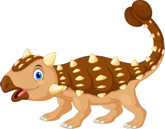 Leuke ankylosaurus cartoon