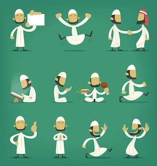 Leuke arabische islam kerel figuur karakter