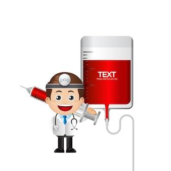 Leuke arts en bloedtransfusie