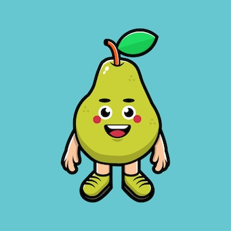 Leuke avocado cartoon afbeelding