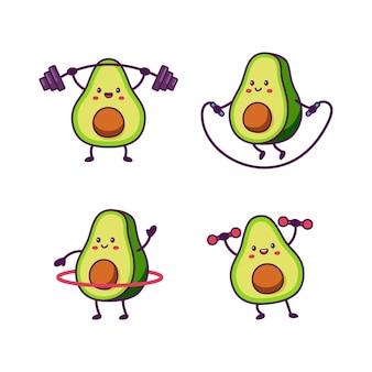 Leuke avocado-fitness