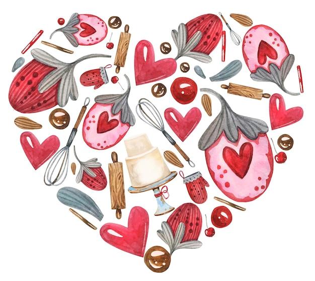 Leuke bakkerij banketbakkerij hartvormig.