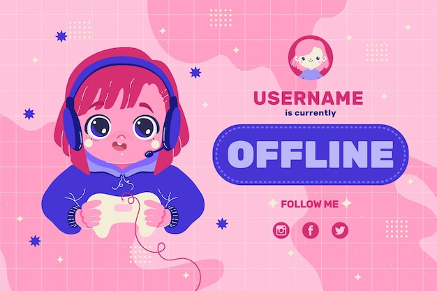 Leuke banner voor offline twitch-platform