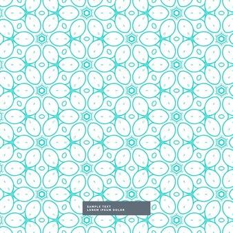 Leuke blauwe bloemen stijl patroon achtergrond