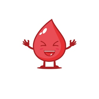 Leuke bloedgroep vector karakter ontwerp illustratie geneeskunde
