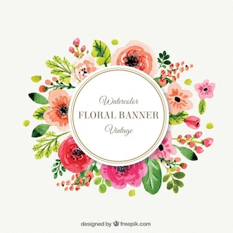 Leuke bloemen frame in vintage stijl
