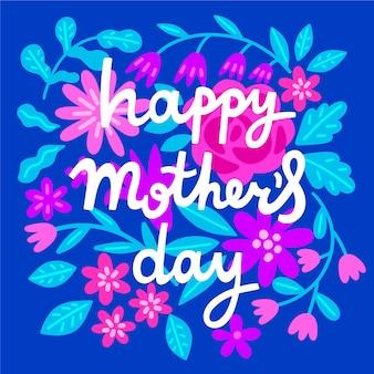 Leuke bloemen moederdag belettering