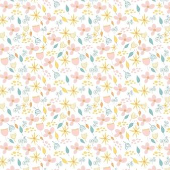 Leuke bloemen roze naadloos patroon